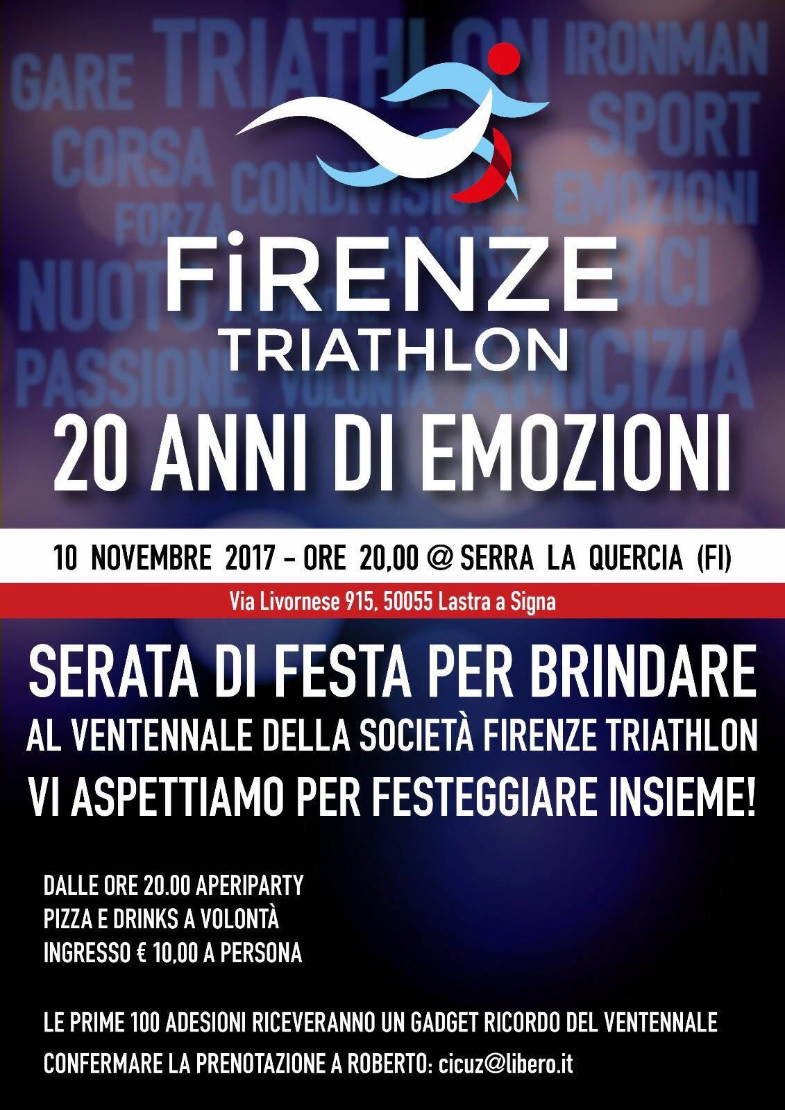 20 anni Firenze Triathlon
